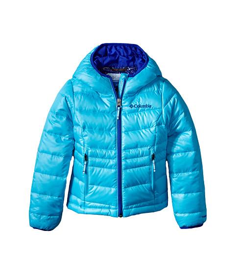 Columbia Kids - Gold 550 TurboDown Hooded Down Jacket (Little Kids/Big Kids) (Atoll/Light Grape) Girl's Coat