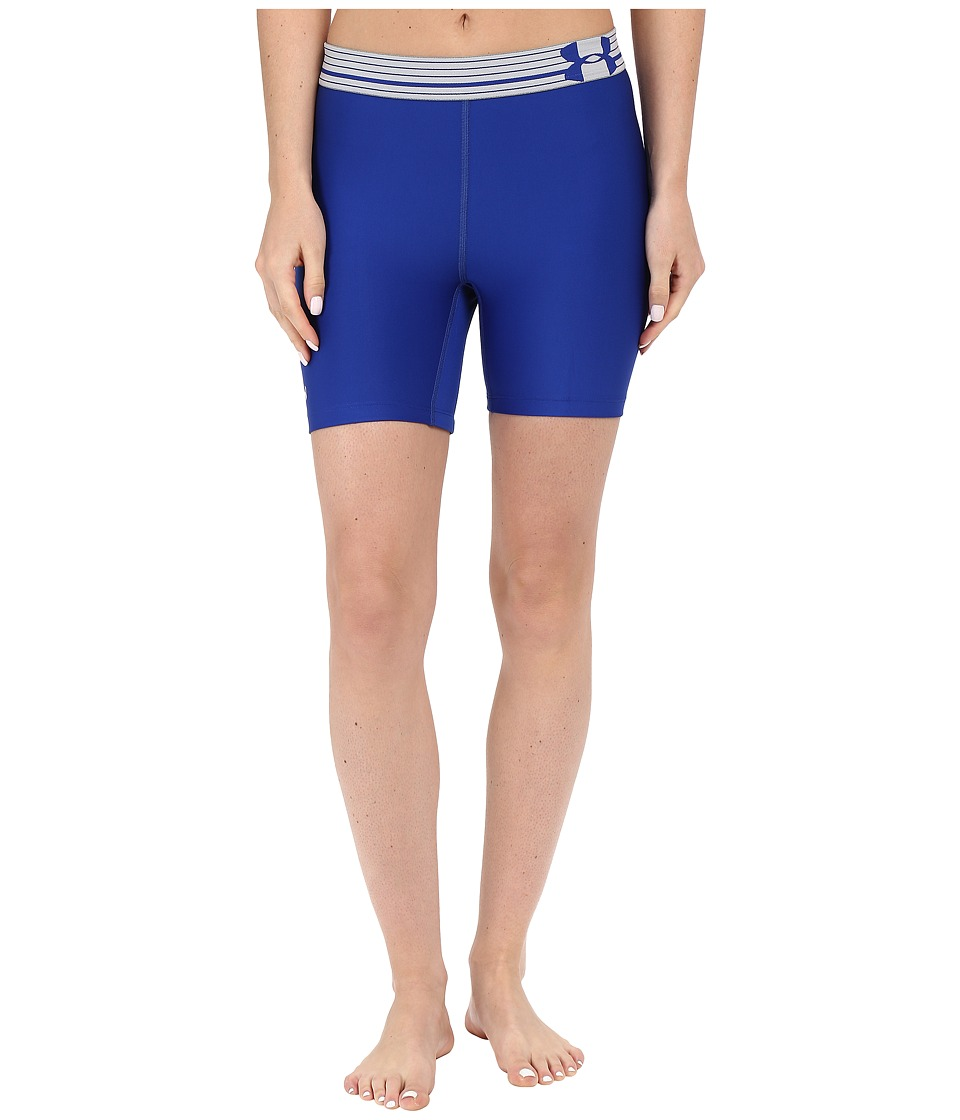 Under Armour - UA HeatGear(r) Armour Compression Mid Shorts (Royal/Royal/Metallic Silver) Women's Shorts