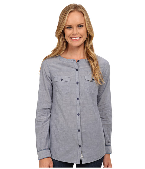 Toad&Co - Izzie Long Sleeve Shirt (Vintage Indigo) Women's Long Sleeve Button Up