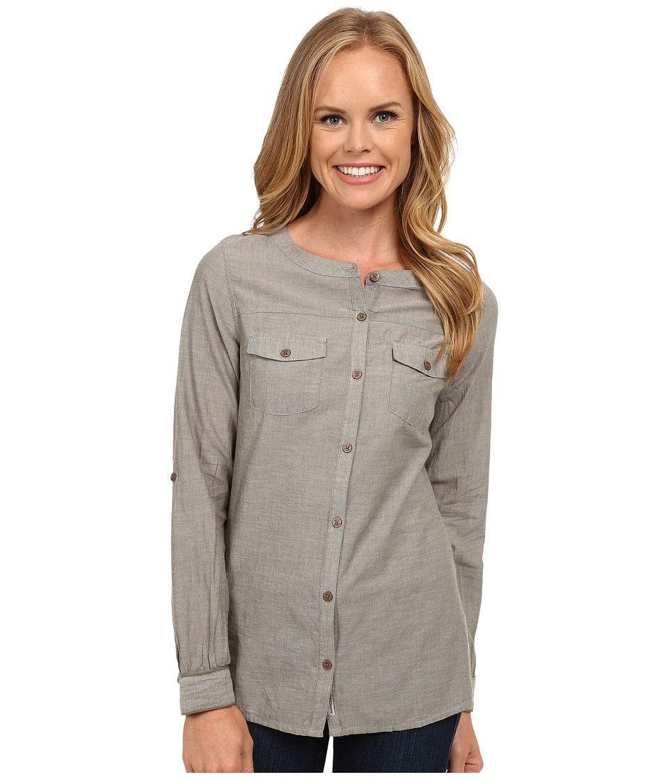 Toad&Co - Izzie Long Sleeve Shirt (Dusty Olive) Women's Long Sleeve Button Up