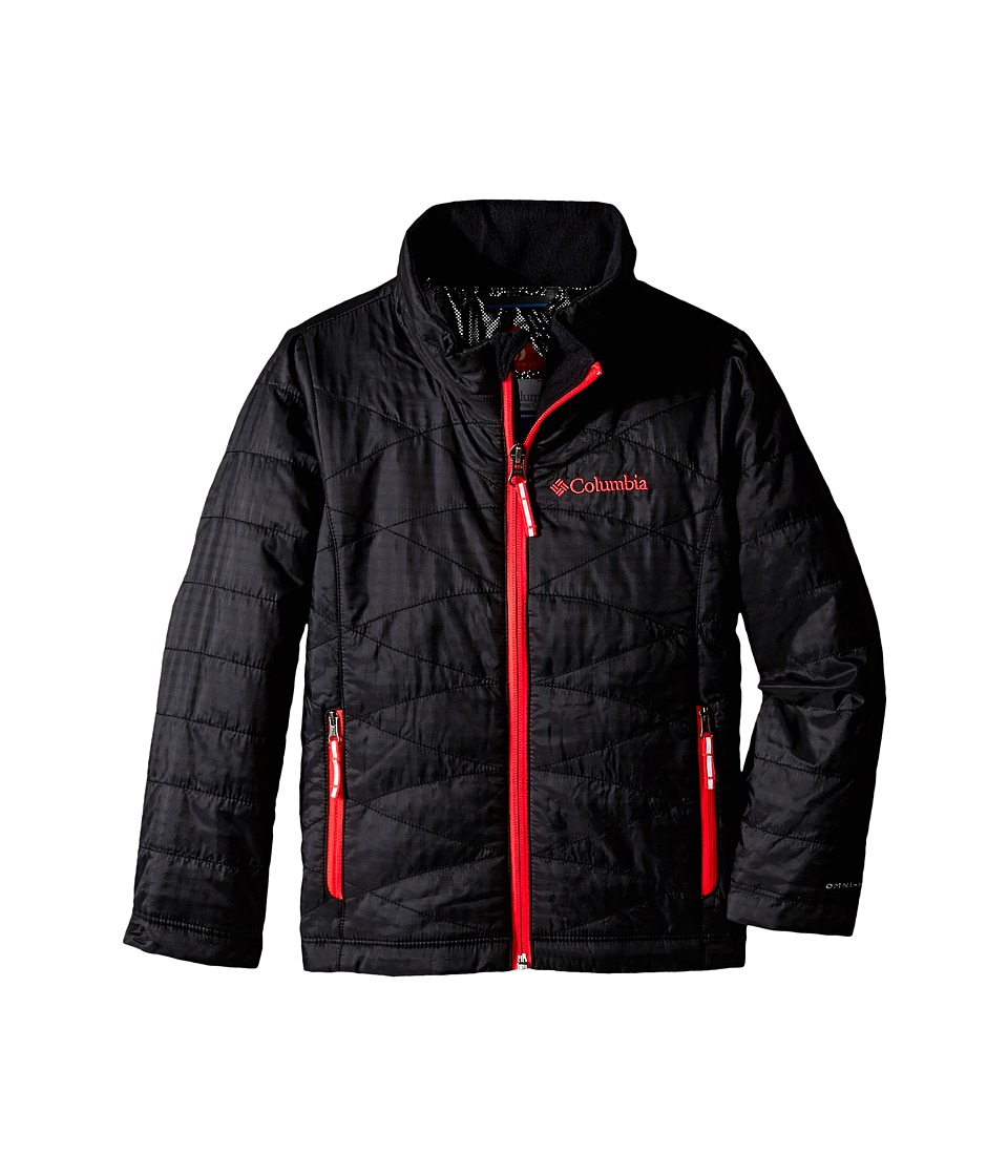 Columbia Kids - Mighty Lite Jacket (Little Kids/Big Kids) (Black/Laser Red Zips) Girl's Coat