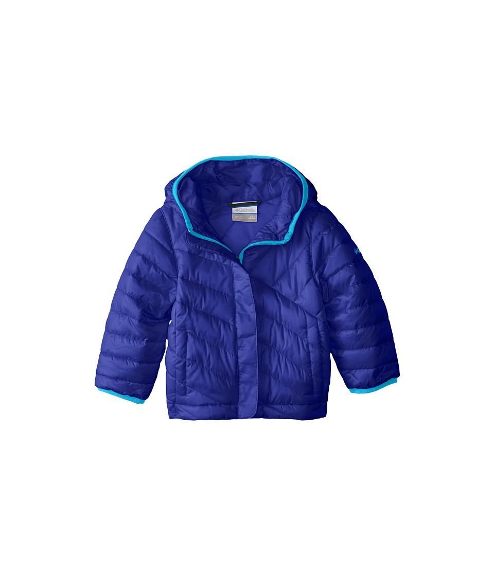 Columbia Kids - Powder Lite Puffer (Little Kids/Big Kids) (Light Grape/Atoll) Girl's Coat