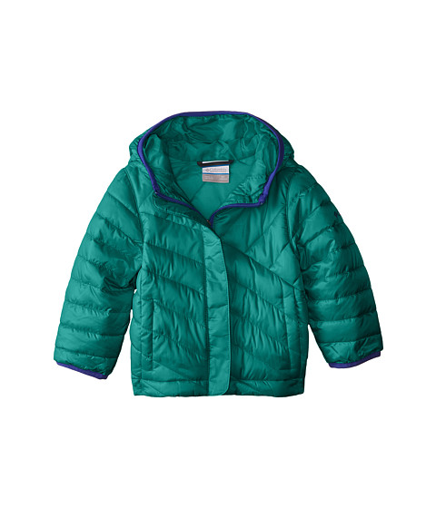 Columbia Kids - Powder Lite Puffer (Little Kids/Big Kids) (Mayan Green/Light Grape) Girl