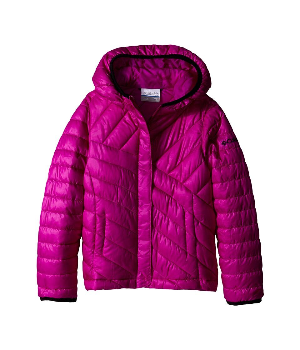 Columbia Kids - Powder Lite Puffer (Little Kids/Big Kids) (Bright Plum/Black) Girl's Coat
