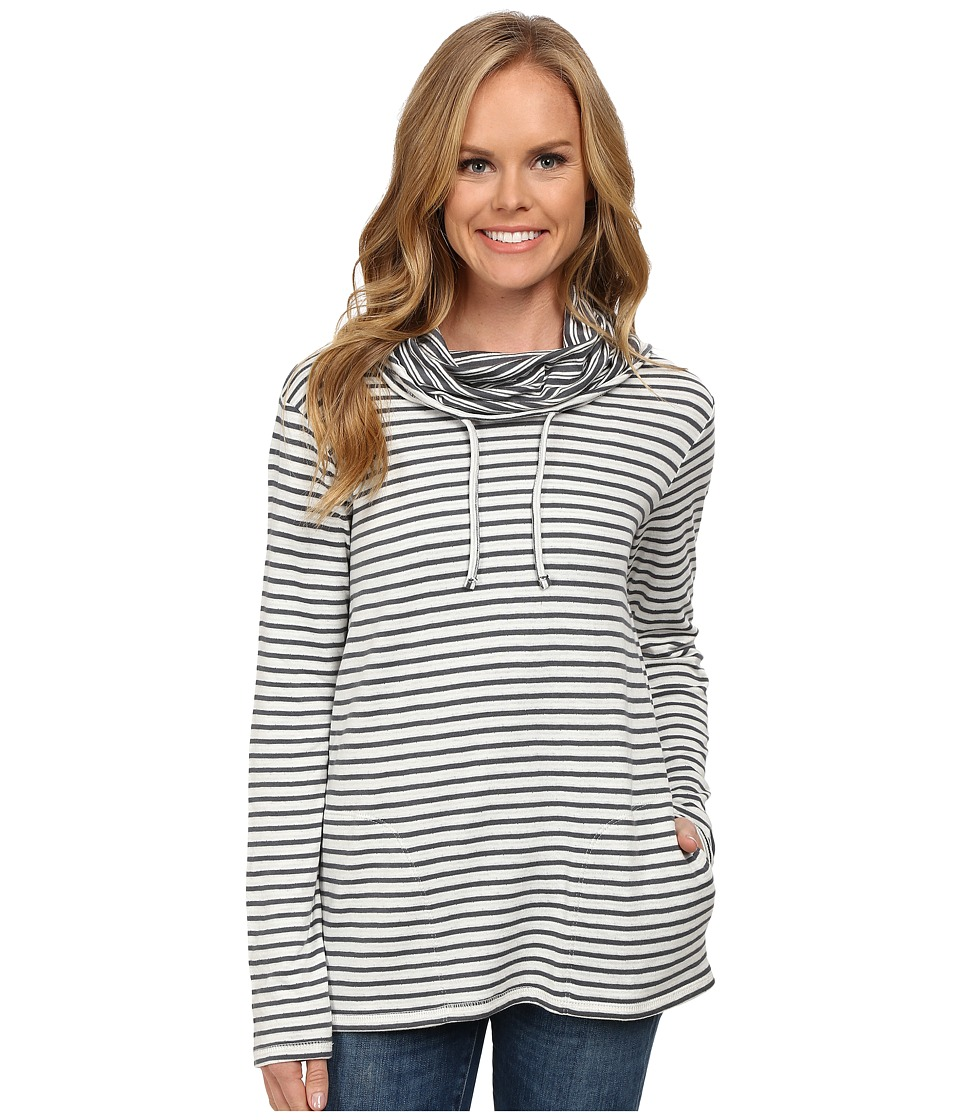 Toad&Co - Profundo Funnel Neck Pullover (Storm Grey Stripe) Women's Long Sleeve Pullover