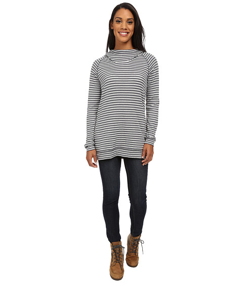 Toad&Co - Indulgent Hoodie Tunic (Storm Grey Stripe) Women
