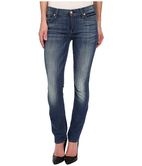 7 For All Mankind - The Modern Straight in Medium Broken Twill (Medium Broken Twill) Women's Jeans