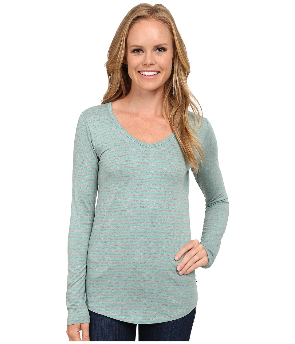 Toad&Co - Marley Long Sleeve Tee (Agate Stripe) Women's T Shirt