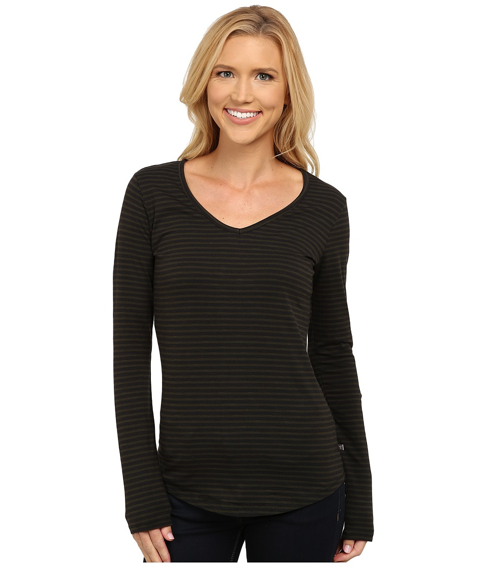 Toad&Co - Marley Long Sleeve Tee (Rosin Stripe) Women's T Shirt