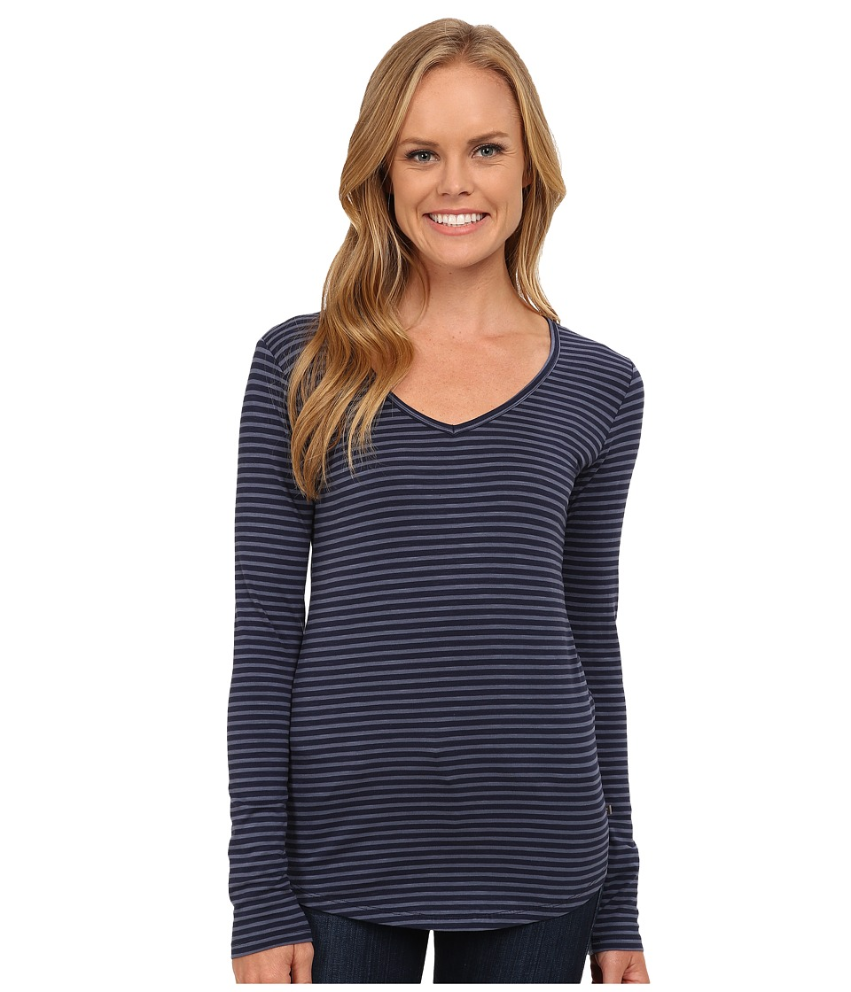Toad&Co - Marley Long Sleeve Tee (Deep Navy Stripe) Women