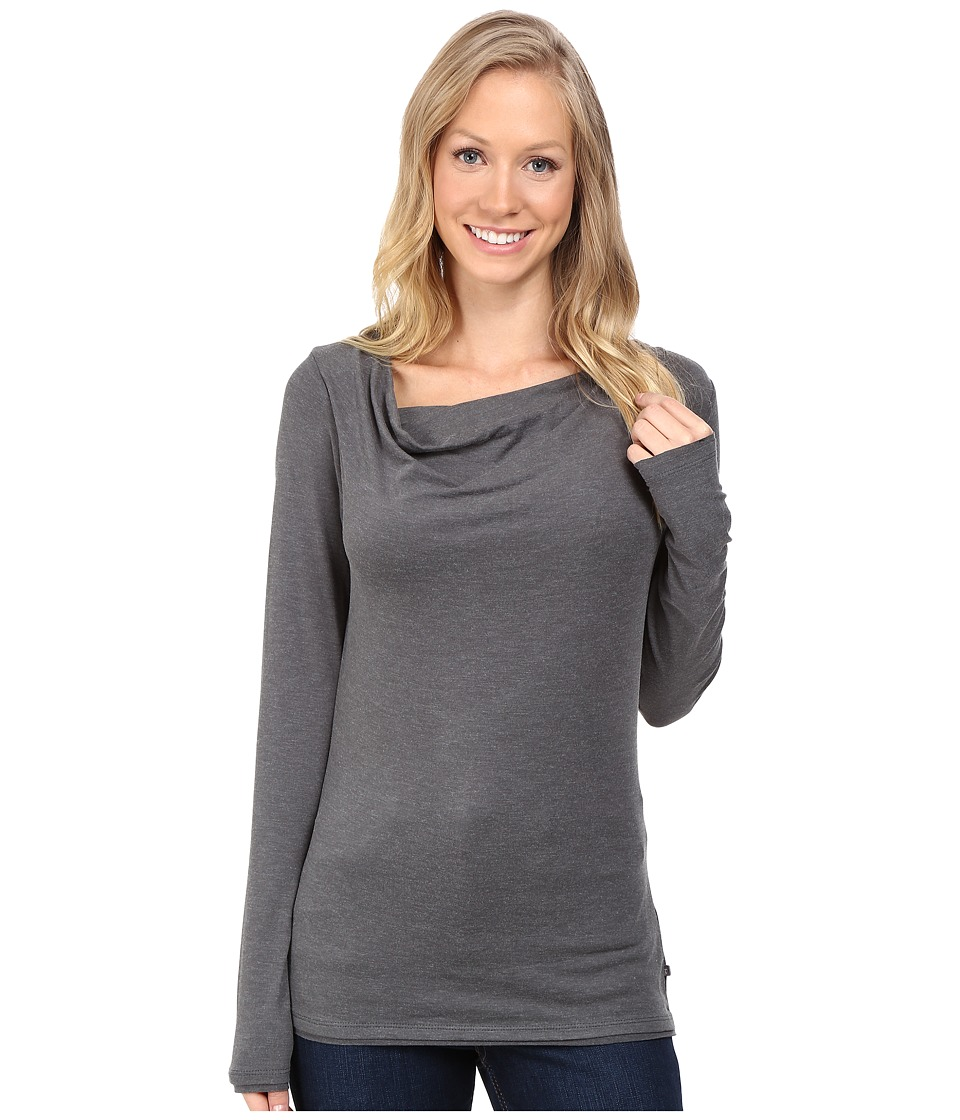 Toad&Co - Revery Long Sleeve Top (Dark Graphite) Women's Clothing