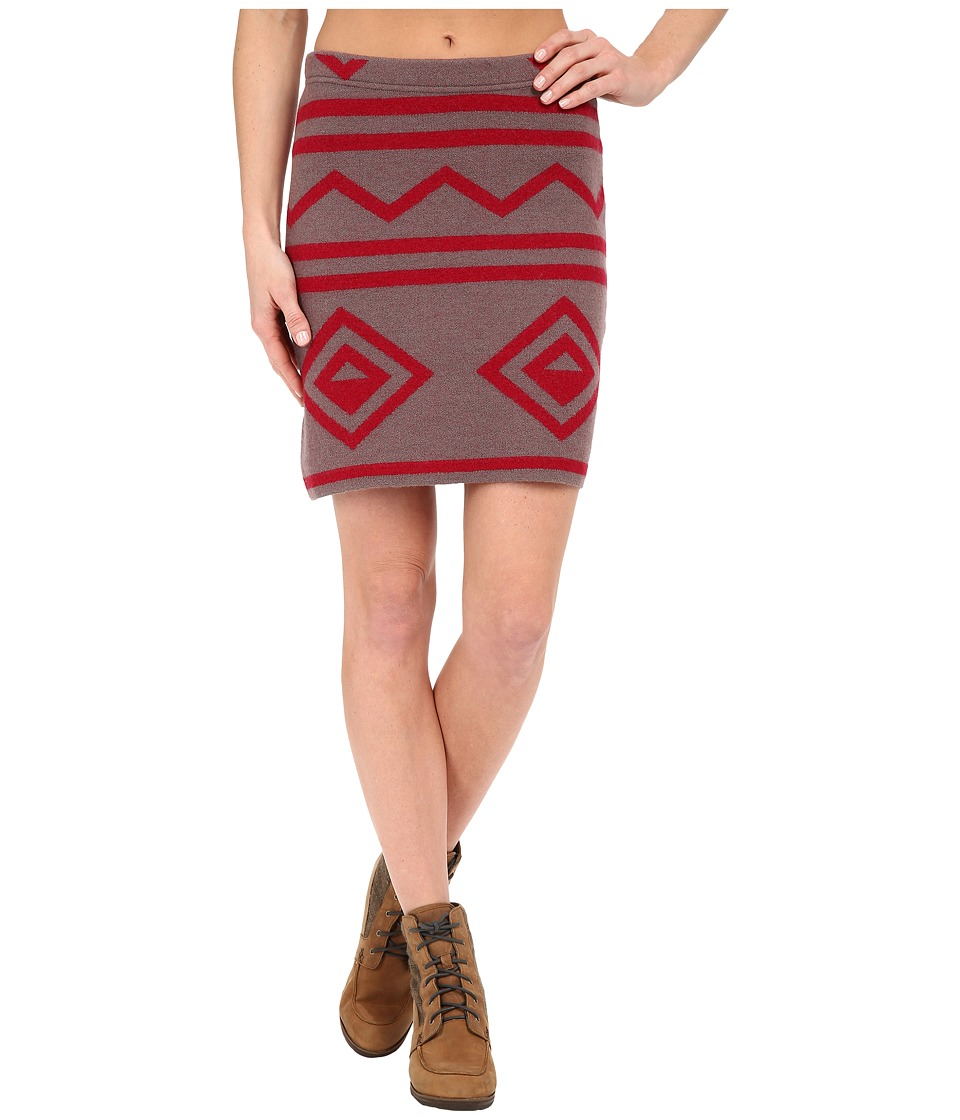 Toad&Co - Diamond Sweater Skirt (Falcon Brown Heather/Molten) Women's Skirt