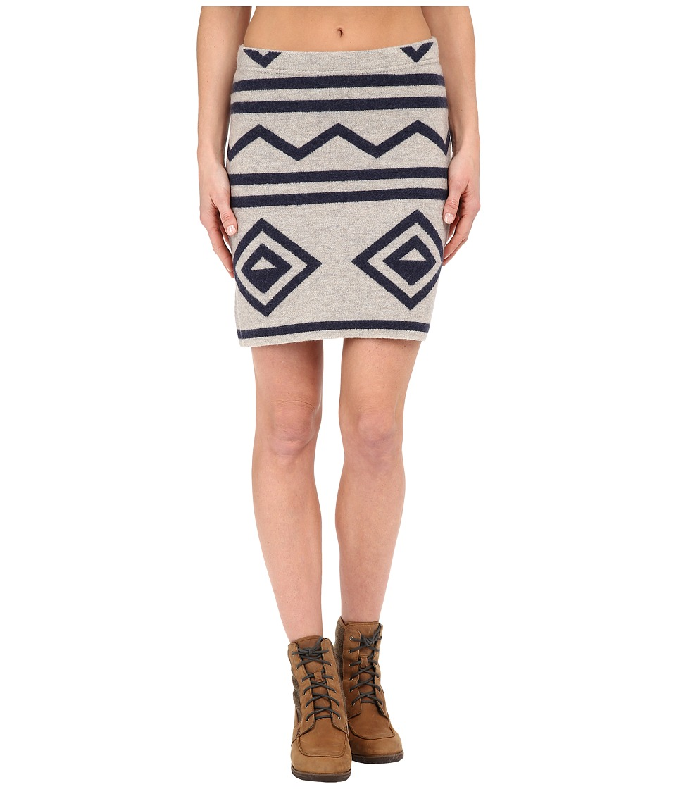 Toad&Co - Diamond Sweater Skirt (Oatmeal Heather/Deep Navy) Women's Skirt