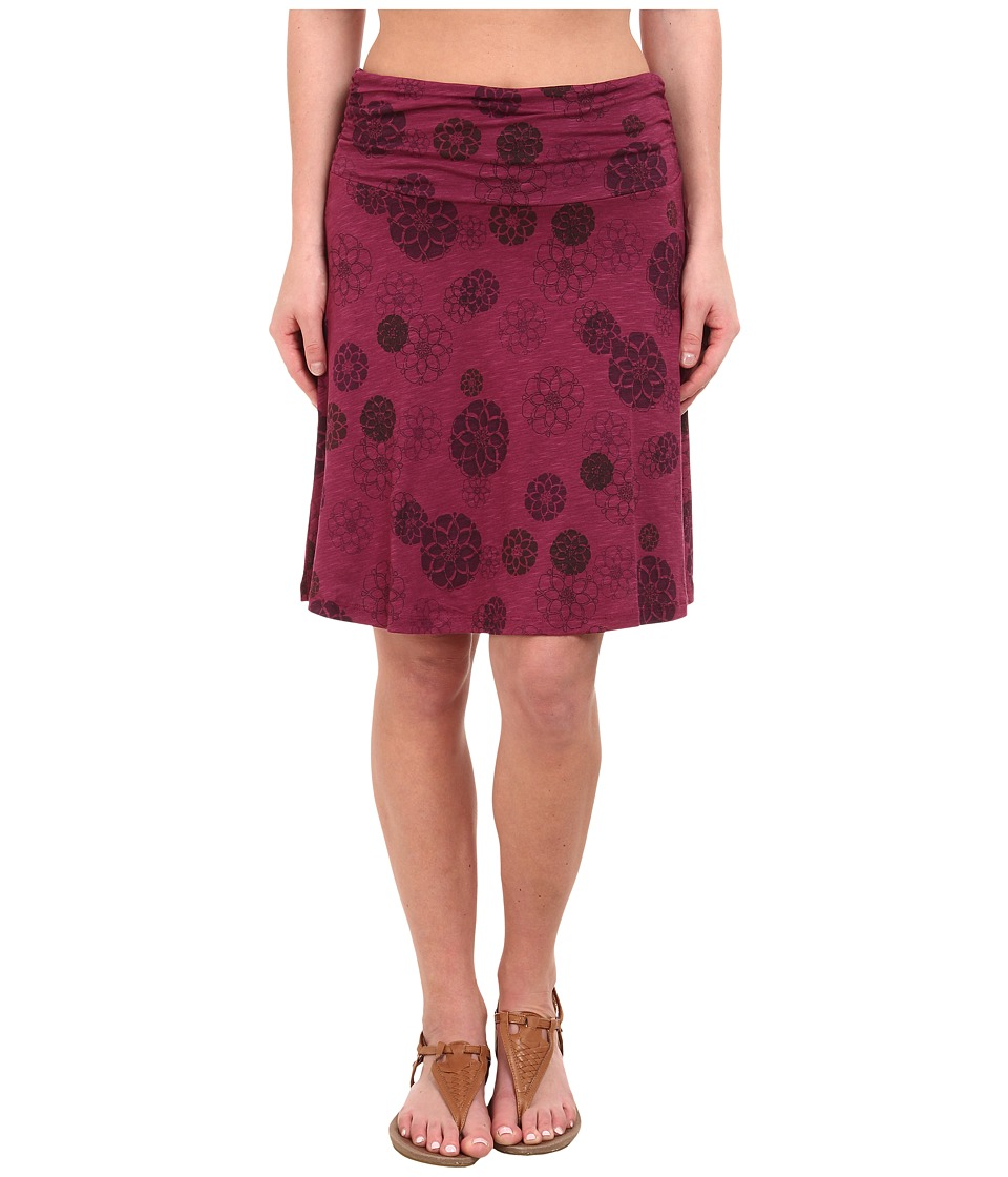 Toad&Co - Chaka Skirt (Dark Thistle Pinecone Print) Women's Skirt