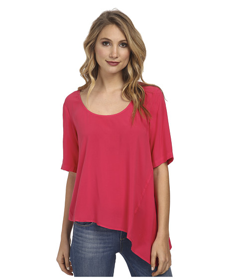 C&C California - Asymmetric Tee (Barberry) Women's Short Sleeve Pullover