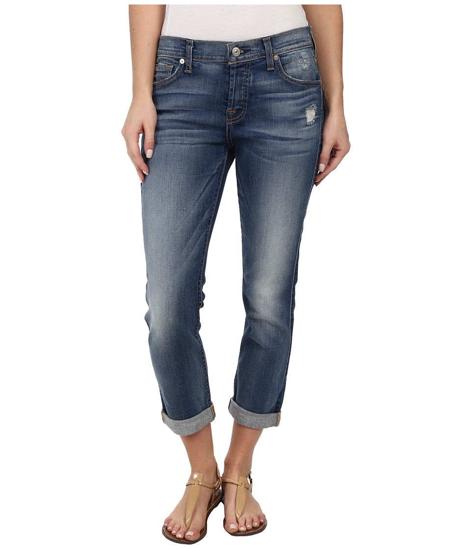 7 For All Mankind - Josefina in Distressed Authentic Light (Distressed Authentic Light) Women's Jeans