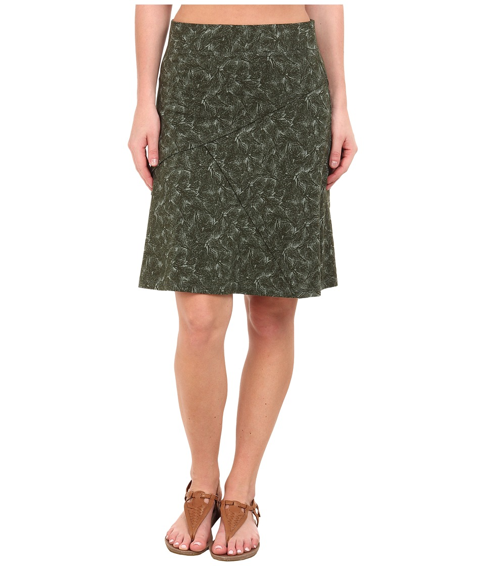 Toad&Co Oblique Jersey Knit Skirt (Pinon Pine Boughs Print) Women