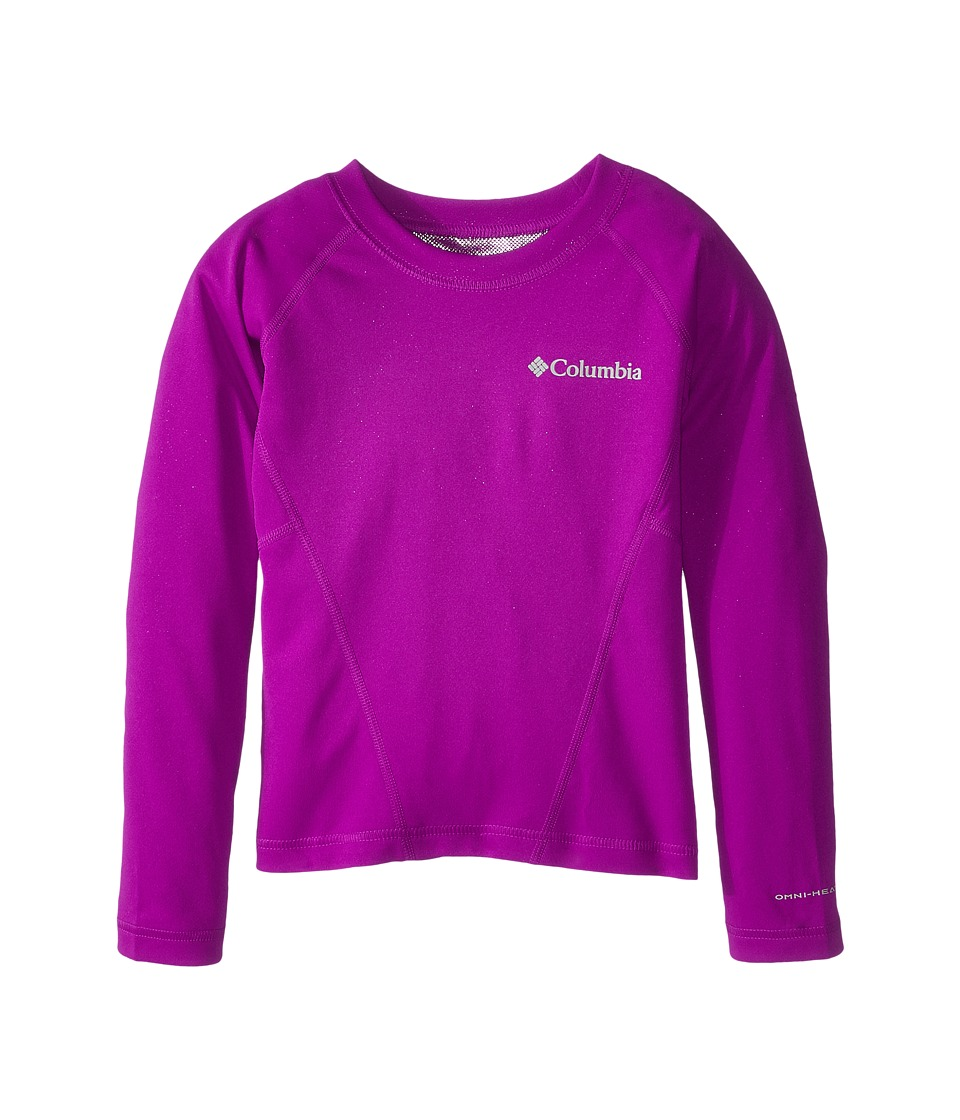 Columbia Kids - Baselayer Midweight Crew (Little Kids/Big Kids) (Bright Plum) Girl's Long Sleeve Pullover
