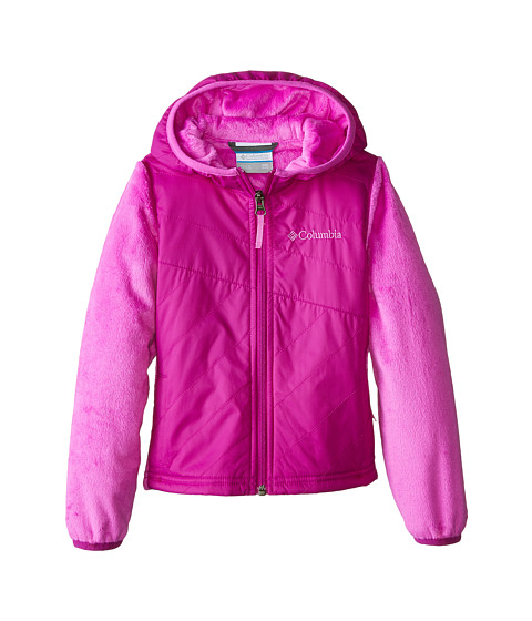 Columbia Kids - Pearl Plush II Hybrid Hoodie (Little Kids/Big Kids) (Bright Plum/Foxglove) Girl's Sweatshirt