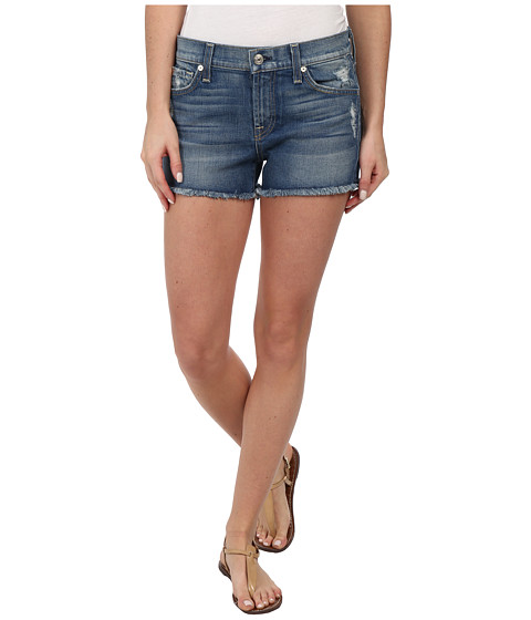 7 For All Mankind - Cut Off Shorts in True Heritage Blue (True Heritage Blue) Women