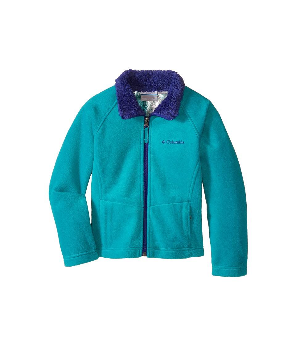 Columbia Kids - Dotswarm Full Zip Jacket (Little Kids/Big Kids) (Mayan Green) Girl's Jacket