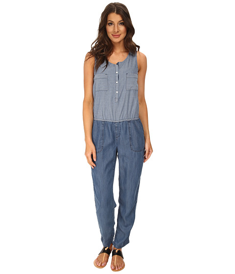 C&C California - Chambray MX Jumper (Chambray Multi) Women's Jumpsuit & Rompers One Piece