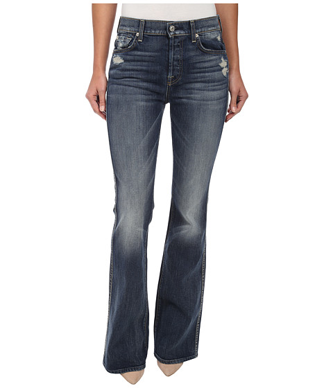 7 For All Mankind - High Waist Vintage Bootcut in Grinded Vintage Indigo (Grinded Vintage Indigo) Women