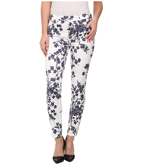 7 For All Mankind - The Ankle Skinny in Indigo Freesian Print (Indigo Freesian Print) Women