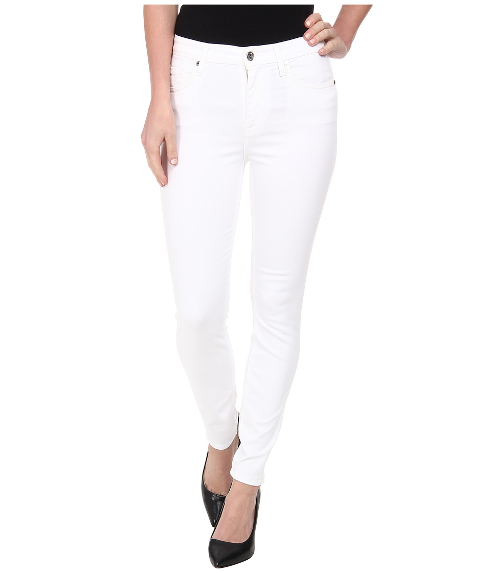 7 For All Mankind - The High Waist Ankle Skinny in White (White) Women's Jeans