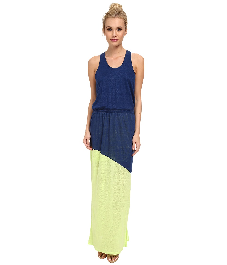 C&C California - Two-Tone Maxi Dress (Medium Cobalt) Women's Dress
