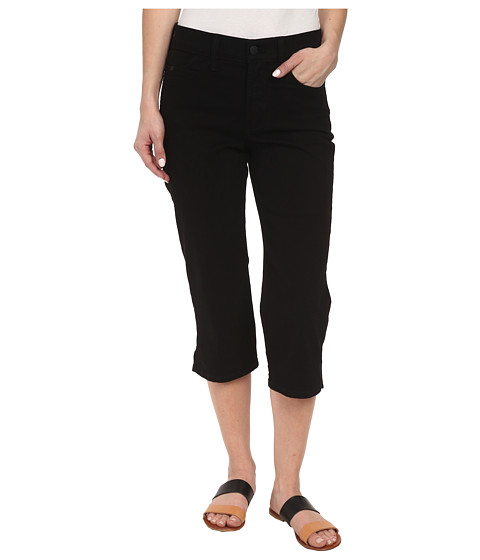 NYDJ Petite - Petite Bella Crop (Black) Women's Casual Pants