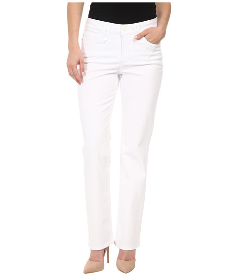 NYDJ Petite - Petite Hayden Straight Twill (Optic White) Women's Jeans