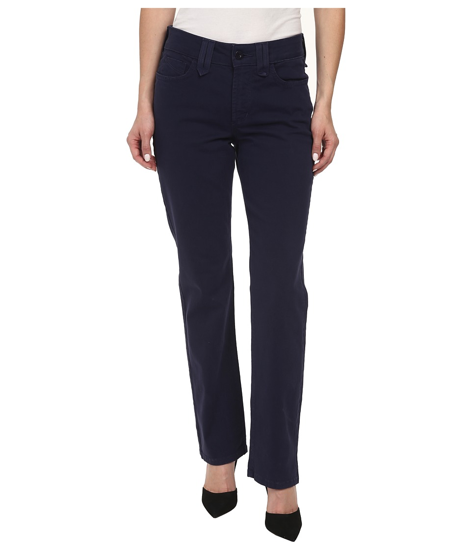 NYDJ Petite - Petite Hayden Straight Twill (Oxford Blue) Women's Jeans