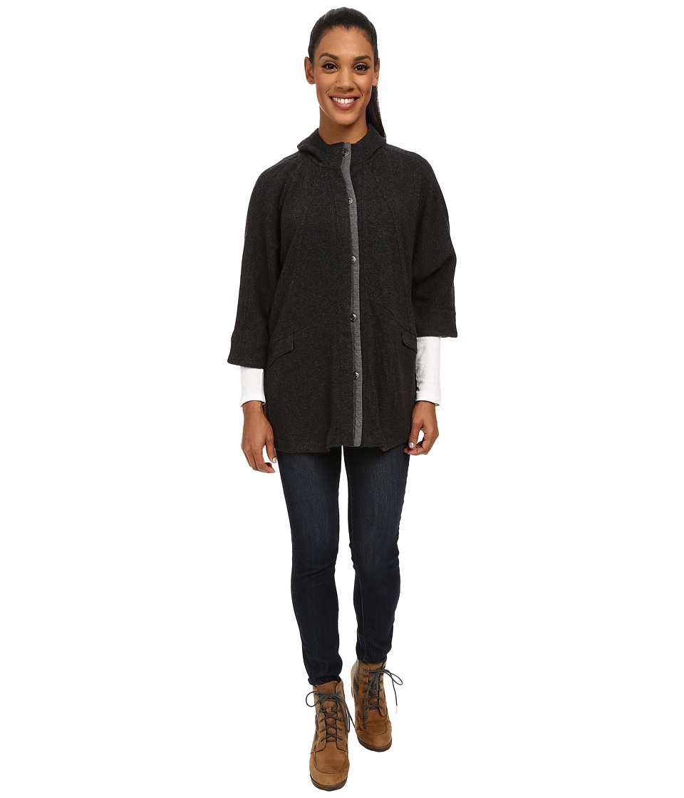 Toad&Co - Nightwatch Cape (Black Heather) Women's Coat