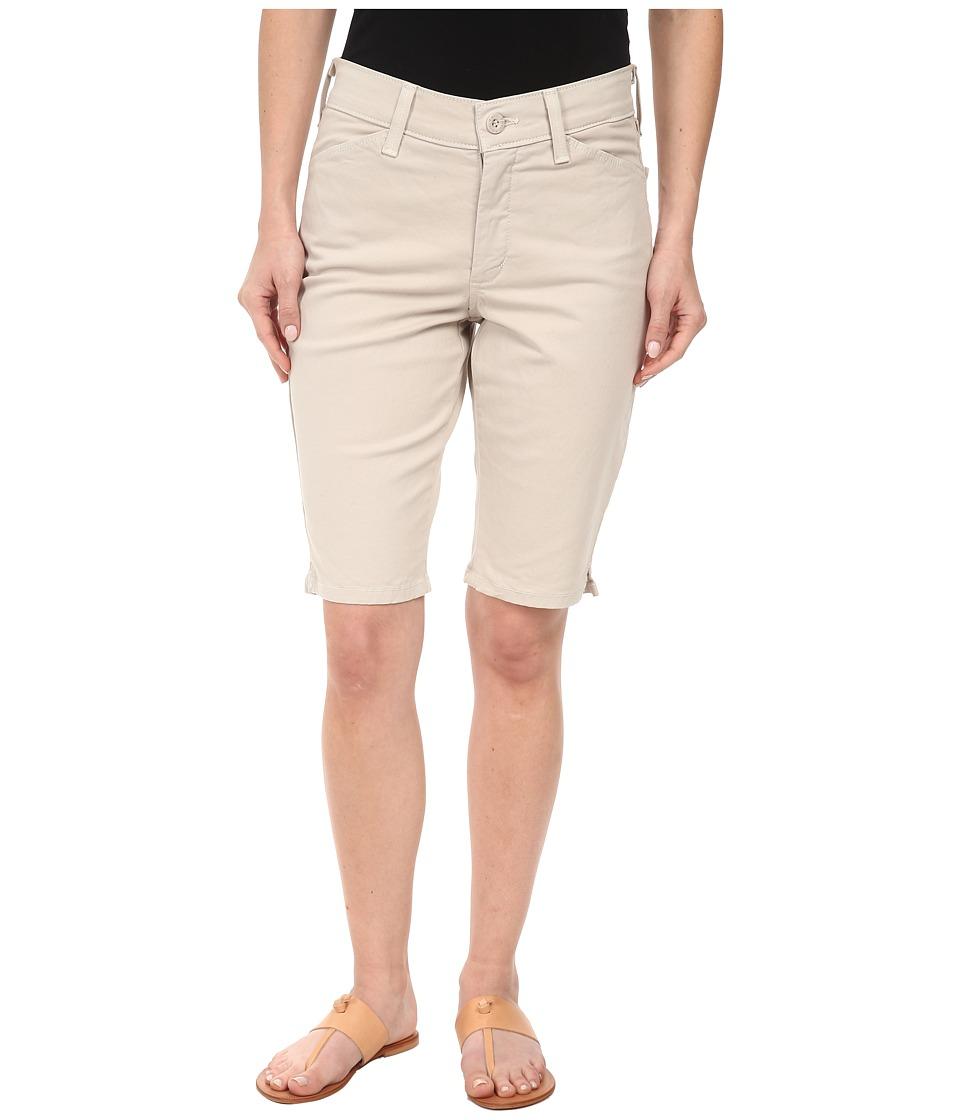 NYDJ Petite - Petite Christy Twill Shorts (Stone) Women's Shorts