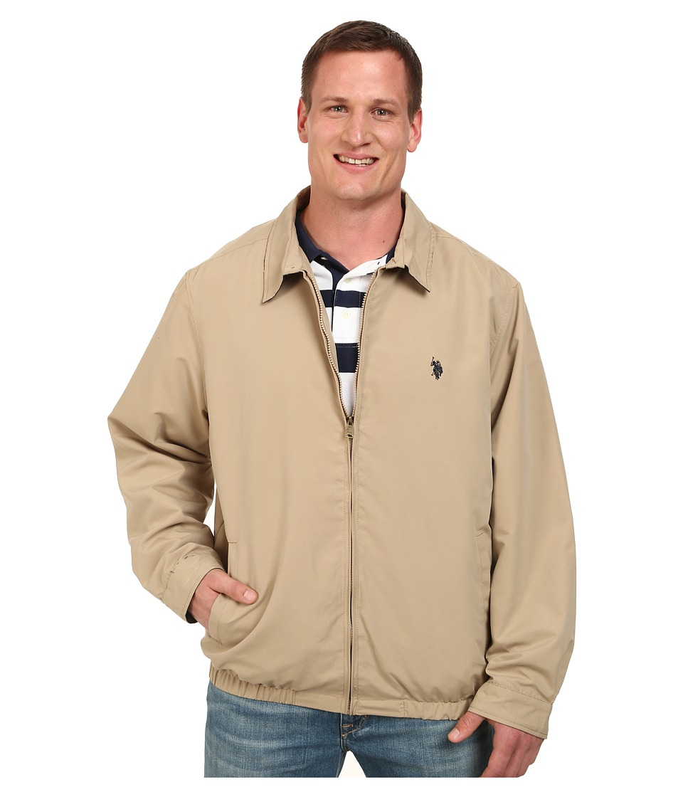 U.S. POLO ASSN. - Micro Golf Jacket (Desert Khaki) Men's Coat