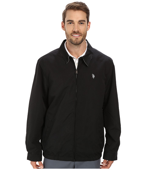 U.S. POLO ASSN. - Micro Golf Jacket (Black) Men's Coat