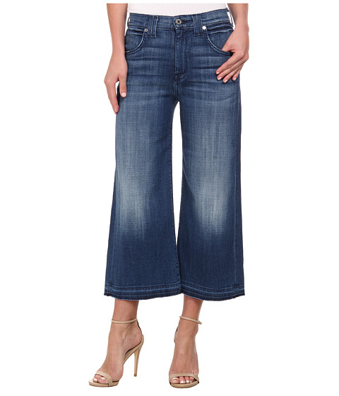 7 For All Mankind - Culotte w/ Let Down Hem in Medium Broken Twill (Medium Broken Twill 2) Women