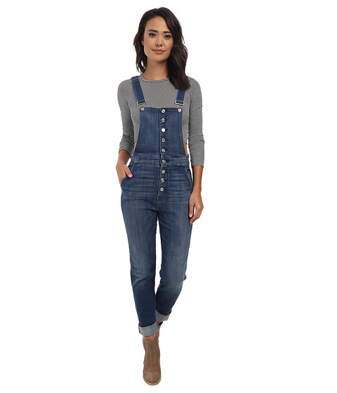 7 For All Mankind - Fashion Overalls in Medium Broken Twill (Medium Broken Twill) Women