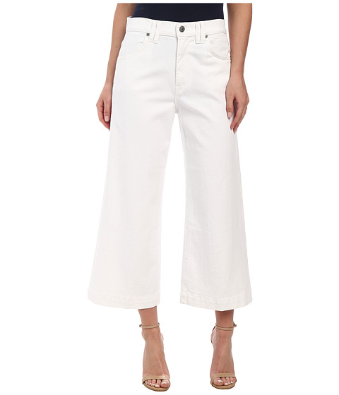 7 For All Mankind - Cullotte w/ Trouser Hem in Runway White (Runway White) Women