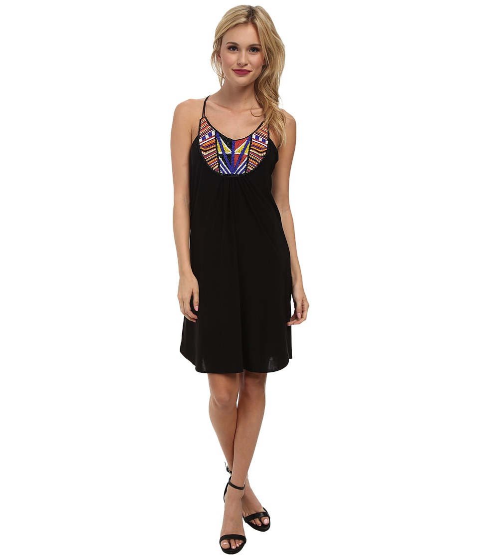 Tbags Los Angeles - Embellished Bib Dress (Black) Women's Dress
