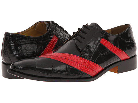 Giorgio Brutini - Henderson (Black/Red) Men's Lace up casual Shoes