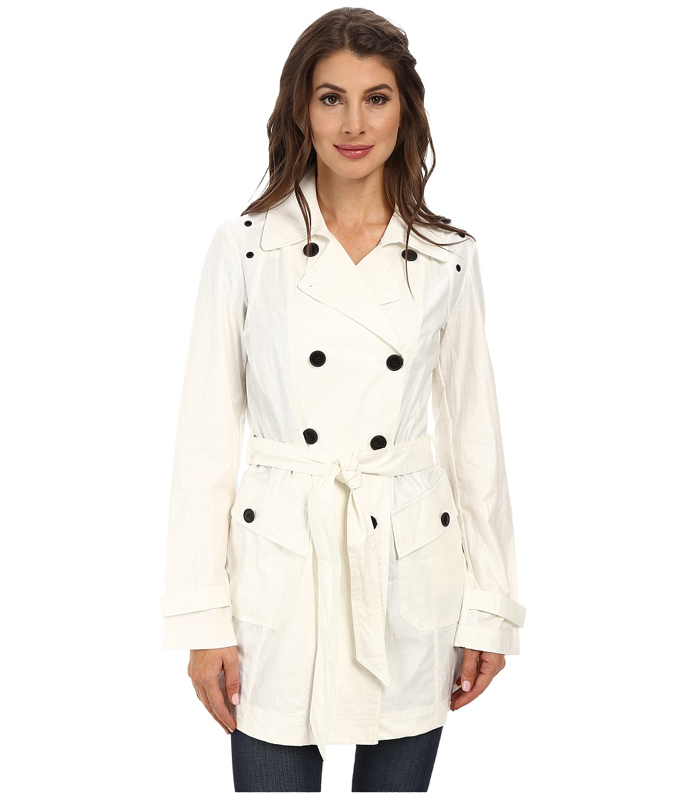 Marc New York by Andrew Marc - Iris 34 Double Breasted Trench (White) Women's Coat