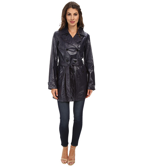 Marc New York by Andrew Marc - Iris 34 Double Breasted Trench (Denim) Women's Coat