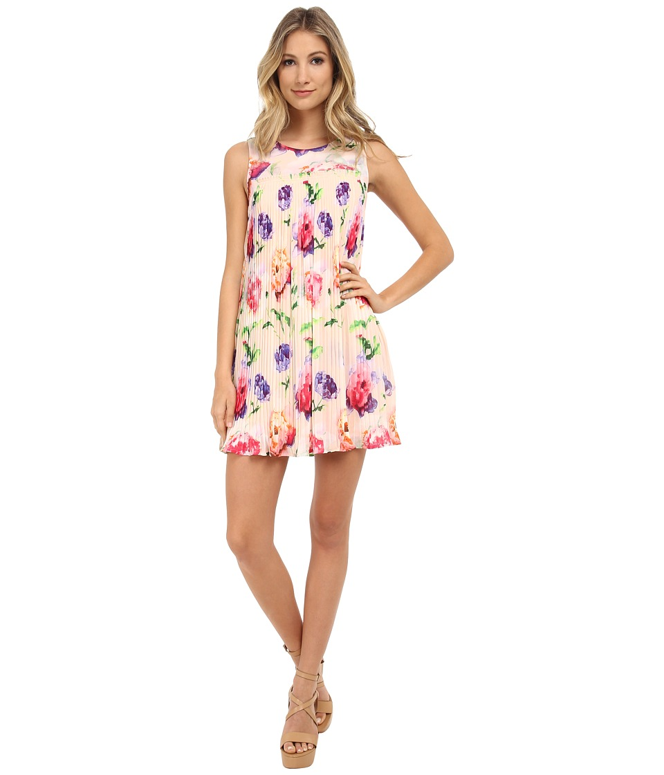 Gabriella Rocha - Bright Print Fiona Dress (Peach Floral) Women's Dress