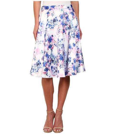 Gabriella Rocha - Layla Floral A-Line Skirt (White Floral) Women's Skirt