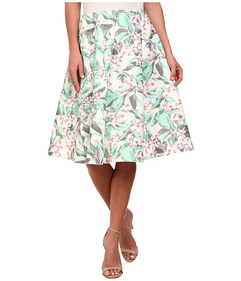 Gabriella Rocha - Tropical Floral Skirt (Mint Floral) Women