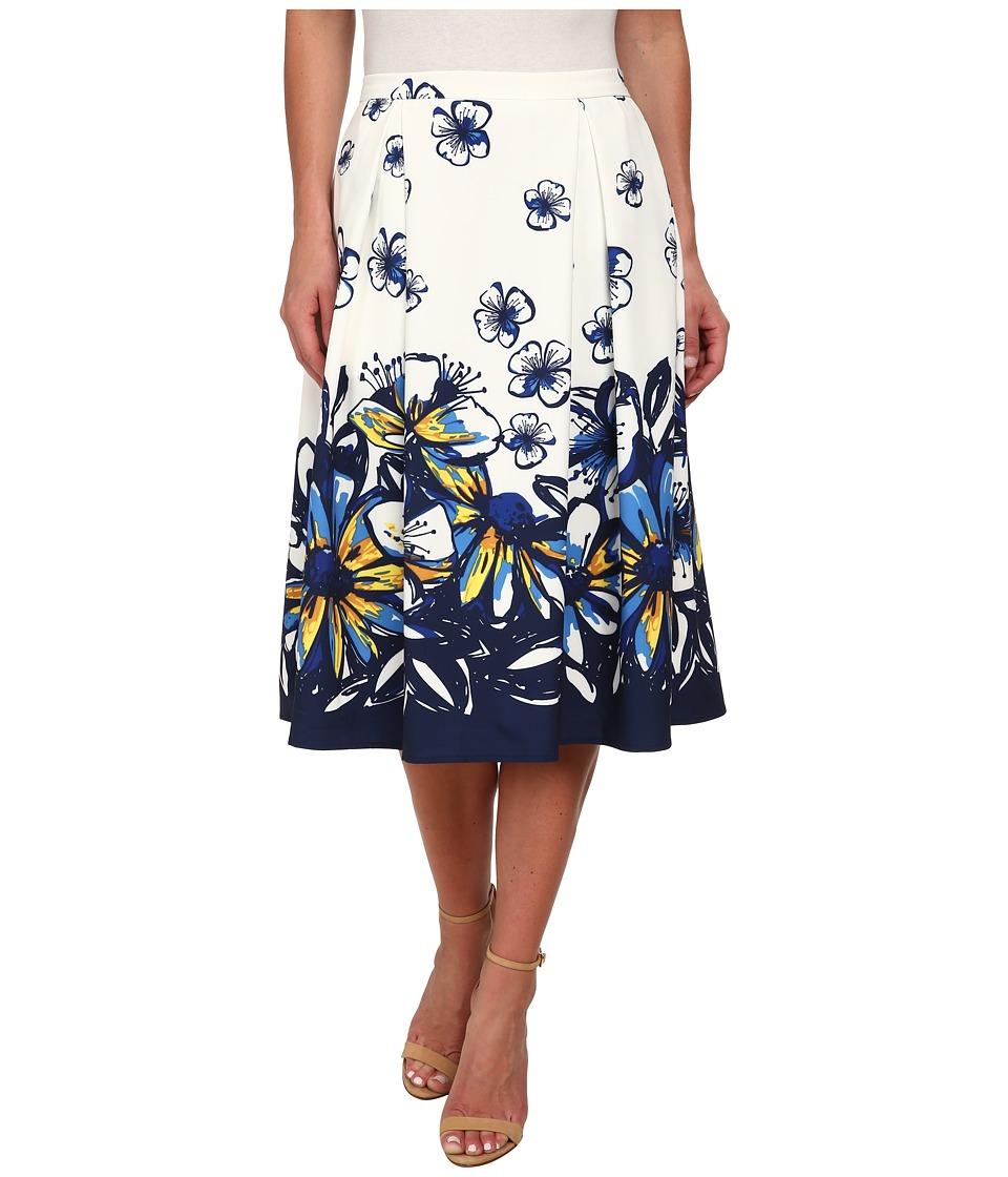 Gabriella Rocha - Tanya Flower Skirt (White Floral) Women's Skirt