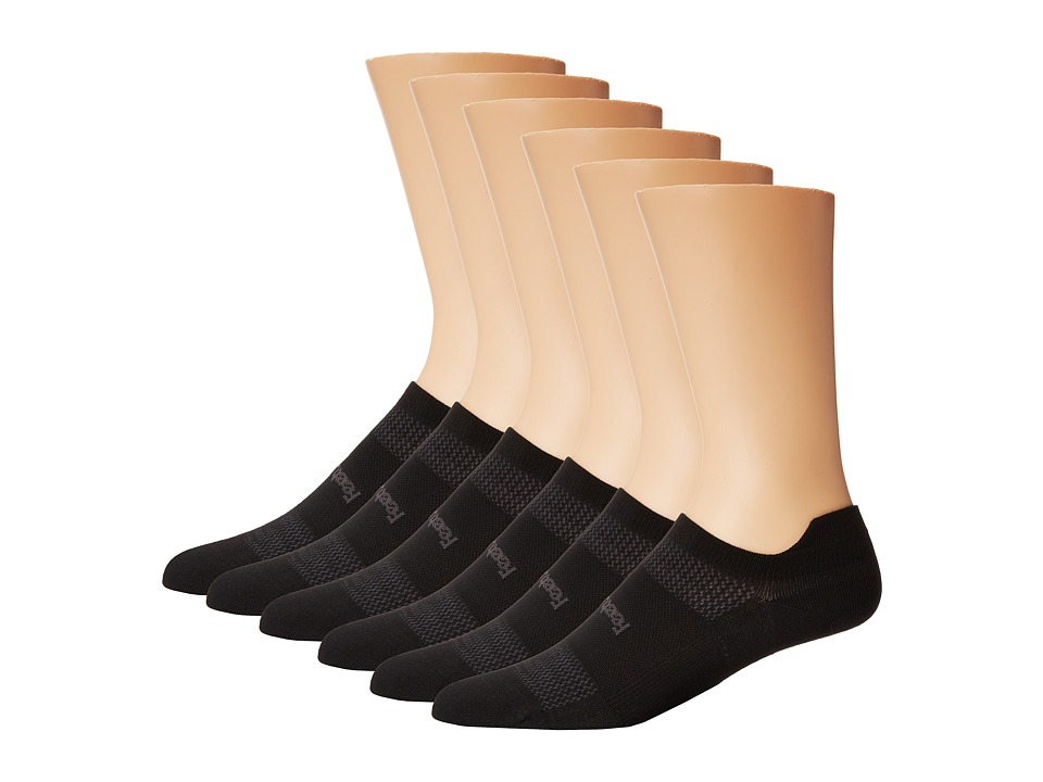 Feetures - High Performance Ultra Light No Show Tab 6-Pair Pack (Black) No Show Socks Shoes