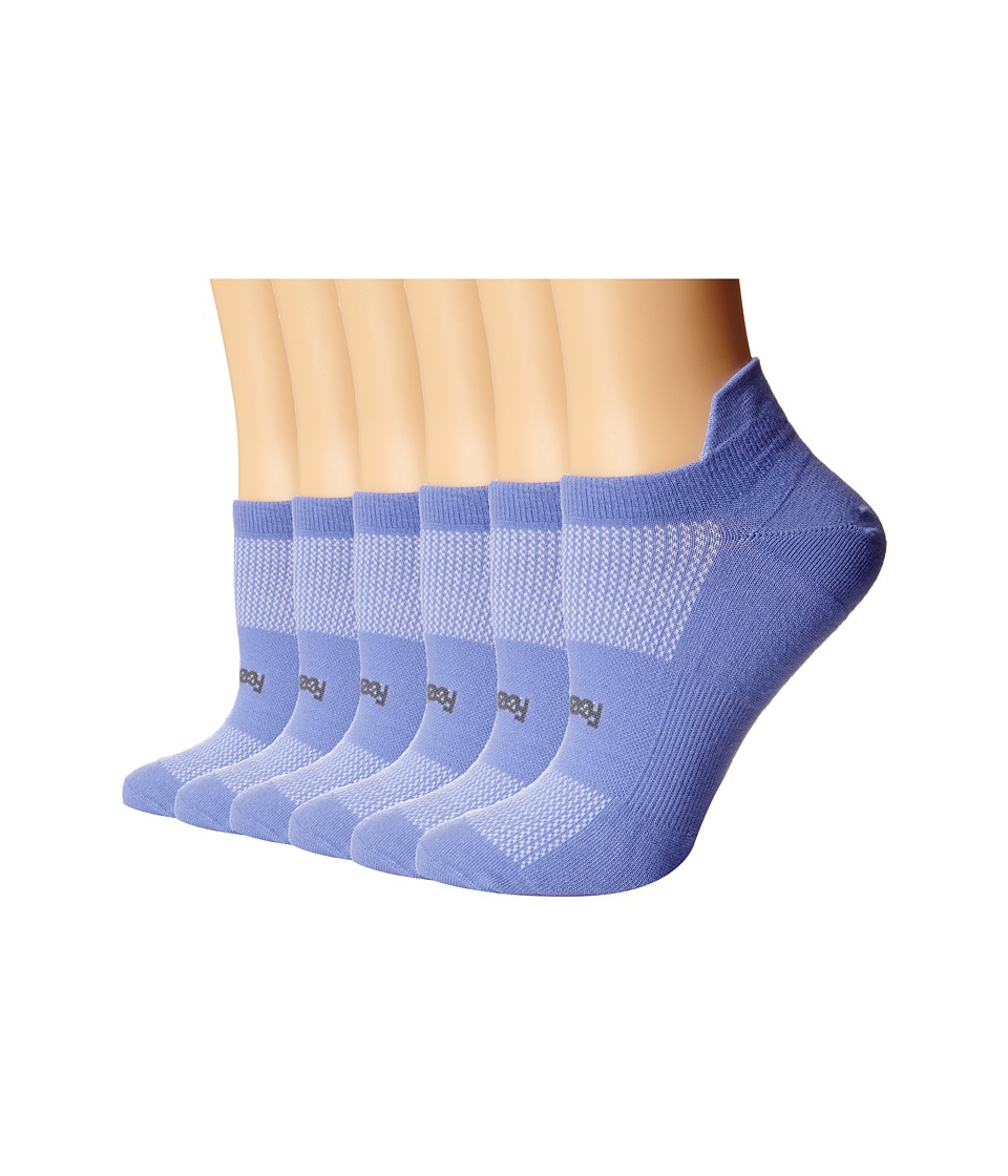 Feetures - High Performance Ultra Light No Show Tab 6-Pair Pack (Periwinkle) No Show Socks Shoes